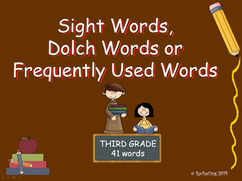 PowerPoint Slide Show - Sight Words: Third Grade