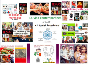 AP Spanish PowerPoint Supplement Activities for every UNIT