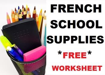 """PowerPoint Slides for French Lesson """"Qu'est-ce qu'il y a dans ton sac d'école?"""""""