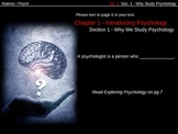 PowerPoint Slides for Understading Psychology (Glencoe) Ch. 1-Sec. 1