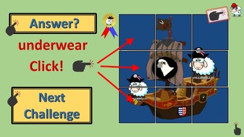 PowerPoint Spelling and English Vocabulary Games for CLOTHES