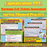 PowerPoint: Spring-Themed Capitalization Interactive Practice