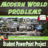 Modern Day World Problems PowerPoint Student Project | Secondary World History