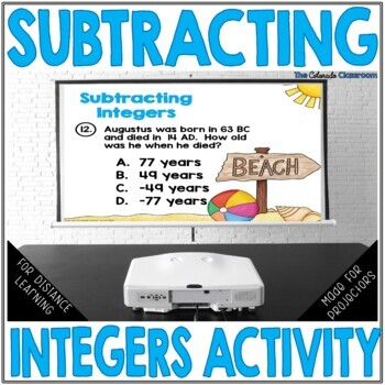 Subtracting Integers Quiz Show