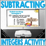 Subtracting Integers Activity | Subtracting Integers Task Cards