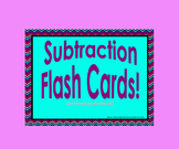 Subtraction Flash Cards PowerPoint (Differences Within 20)
