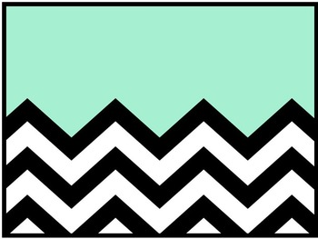 Aqua PowerPoint Template with Black and White Chevron