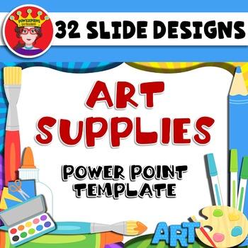 PowerPoint Template Art Supplies