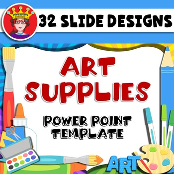 Powerpoint template art supplies by powerpoint princess tpt powerpoint template art supplies toneelgroepblik Image collections