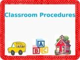 PowerPoint Template Back to School Teach Classroom Procedures