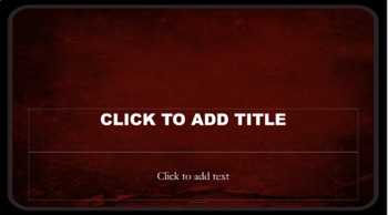 PowerPoint Template - Blood Red Wall Classic Professional Unique