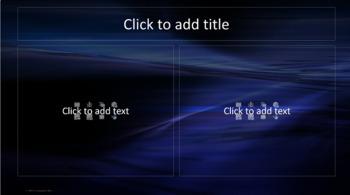 PowerPoint Template - Blue Black Water - Classic Professional Unique