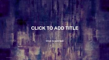 PowerPoint Template - Blue Purple White Watercolor- Classic Professional Unique
