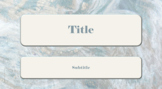 PowerPoint Template Blue Tan White Marbled Background Professional Unique