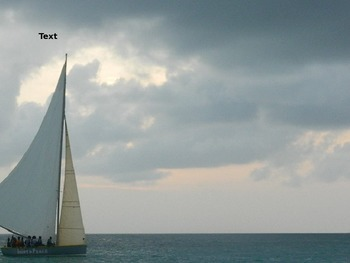 PowerPoint Template: Blue sail boat