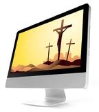 PowerPoint Template: Crucifixion [4 Slides] Religious
