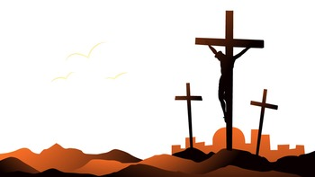 PowerPoint Template: Crucifixion [4 Slides] Religious