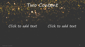 PowerPoint Template Gold Glitter Falling w Black Background Professional Unique