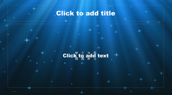 PowerPoint Template - Blue Star Sky Classic Professional Unique