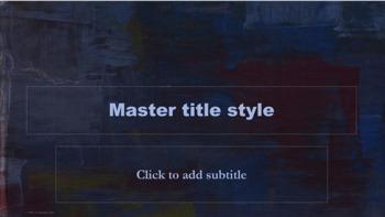 PowerPoint Template - Painted Canvas Blue Classic Professional Unique