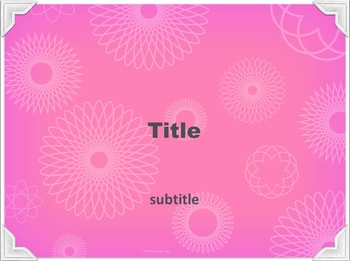 PowerPoint Template - Pink Geometric 1 Classic Professional Unique