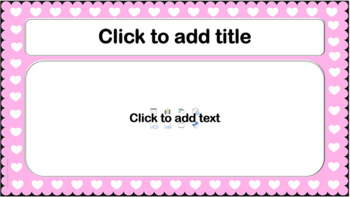 PowerPoint Template Pink Scalloped W Hearts Classic Professional Unique