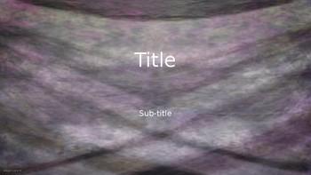 PowerPoint Template Purple-Black-White Fabric Classic Professional Unique
