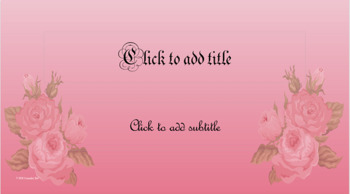 PowerPoint Template - Roses on Pink
