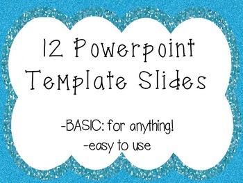Winter Sparkle PowerPoint Template Slides