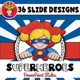 free superhero editable newsletter template by powerpoint princess