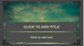 PowerPoint Template - Teal with Earth Tones Classic Professional Unique!!