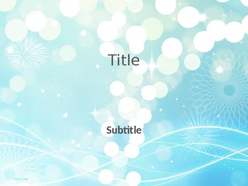 PowerPoint Template - Turquoise Lights Classic Professional Unique