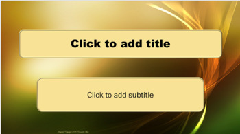 PowerPoint Template - Green and Gold Swirl