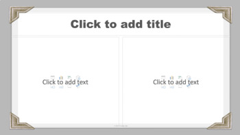 PowerPoint Template - White-Gray Classic