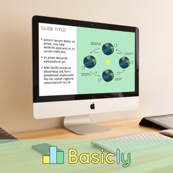 PowerPoint Template for Classroom Teachers - Basic Green (