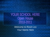 PowerPoint Template for Open House-Middle School or High School