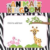 PowerPoint Templates Cute Safari (Zoo Adventure) Jungle Theme