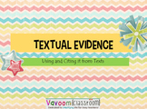 PowerPoint--Textual Evidence: Finding, Citing, and Using It