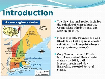 PowerPoint - The Founding of the New England Colonies