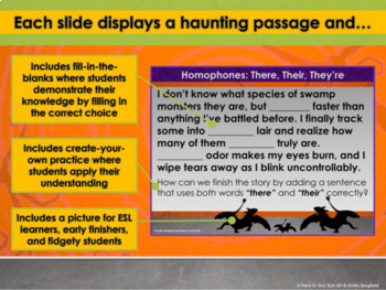 PowerPoint: There, Their, They're Haunting Homophones Interactive Practice