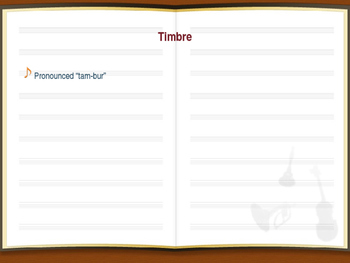PowerPoint: Timbre Lesson
