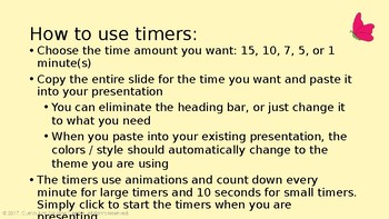 PowerPoint Timers {Countdown, Timer, Presentation, Clock, Centers, Groups}