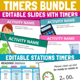 PowerPoint Timers Templates for Class Activities and Station Rotations Editable