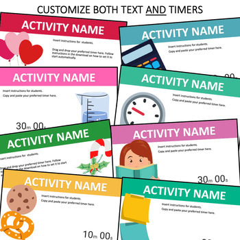 PowerPoint Timers Templates for Class Activities and Station Rotations Bundle
