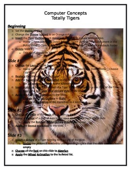 PowerPoint: Totally Tigers