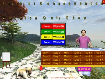 PowerPoint Truth or Consequences Vacation Quiz Game