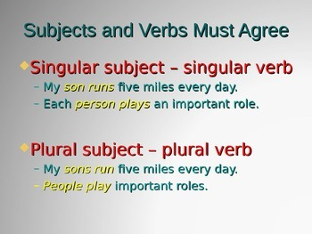 Grammar: Using Verbs PowerPoint