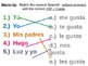 PowerPoint Warm-Up Package - Subject Pronouns and Gusta