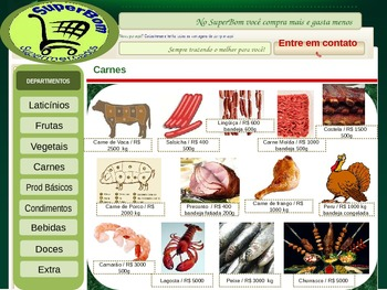 PowerPoint Website - Portuguese - Food Shopping