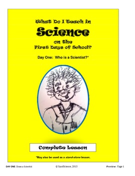 What Do I Teach on the First Days of School in Science:  DAY ONE